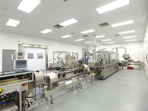 stonshield hri flooring in pharmaceutical processing facility