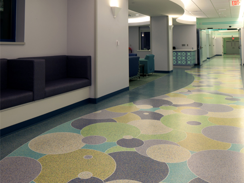 stonres rtz flooring in hospital corridor