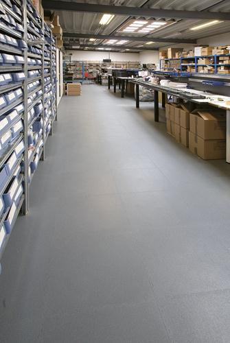 stonlok pvc flooring in warehouse facility