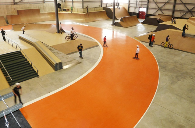 stonclad gs in skatepark entertainment facility